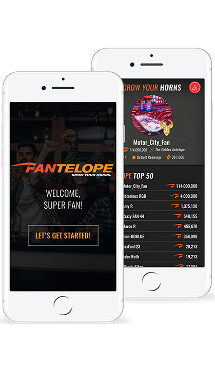Fantelope Login Screen